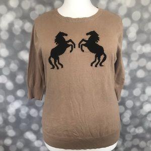Torrid Horse Sweater Size 3